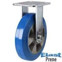 LMH Series; Fabricated Steel / Elastic Polyurethane on Aluminium Centre Fixed Castors