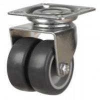 Light Duty Grey Rubber Twin Wheel Castors