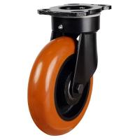 NGRPTRP Series; Heavy Duty Fabricated / Poly Cast Round Profile Castors