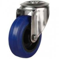 100mm Medium Duty Elastic Rubber Non-Marking Bolt Hole Castors