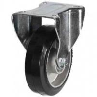 100mm Light Duty Elastic Rubber On Aluminium Centre Fixed Castors