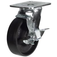 100mm Heavy Duty Cast Iron Baked Castor - 380kg capacity