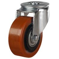 100mm Polyurethane On Cast Iron Centre Swivel Castors