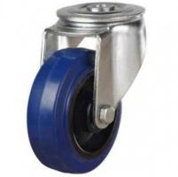 5 Inch Swivel Caster | 125mm Elastic Rubber Non-Marking Bolt Hole Castors