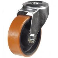 125mm Heavy Duty Polyurethane on Cast Iron M12 Bolt Hole castors - 270kg capacity