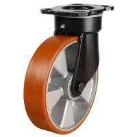 125mm Polyurethane On Aluminium Centre Heavy Duty Swivel Castors