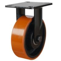 125mm Polyurethane On Cast Iron Core Fixed Castors
