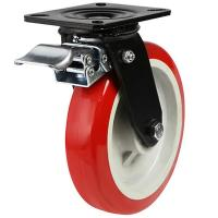125mm Polyurethane On Nylon Centre Braked Castors