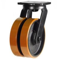 150mm Heavy Duty Poly Nylon Twin Wheel Swivel castors -1500kg capacity