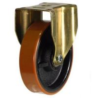 150mm Heavy Duty Polyurethane on Cast Iron Fixed castors - 700kg capacity