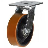 150mm Heavy Duty Polyurethane on Cast Iron Swivel castors - 500kg capacity
