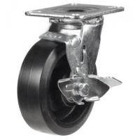150mm Heavy Duty Rubber on Cast Iron Braked castors - 400kg capacity