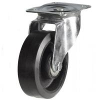 150mm medium duty swivel castor rubber cast iron wheel