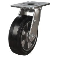 160mm Elastic Rubber On Aluminium Centre Swivel Castors