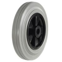 160mm Grey Rubber On Plastic Centre Castors Wheel