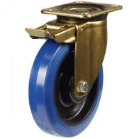 160mm Heavy Duty Rubber on Nylon Braked castors - 350kg capacity