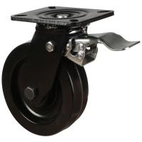 200mm Heavy Duty High Temperature Resistant Phenolic Braked Castors