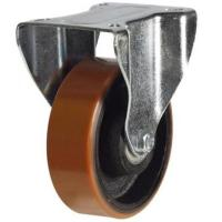200mm Light Duty Polyurethane on Cast Iron Fixed castors - 350kg capacity