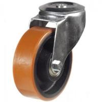 200mm Light Duty Polyurethane on Cast Iron M12 Bolt Hole castors - 350kg capacity