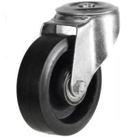 200mm Light Duty Rubber on Aluminium M12 Bolt Hole castors - 350kg capacity