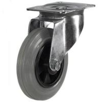 200mm medium duty swivel castor grey rubber wheel