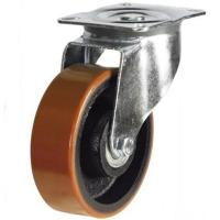 200mm medium duty swivel castor poly/cast wheel