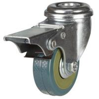 50mm Light Duty PVC Bolt Hole Braked Castor