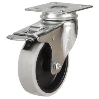 50mm Synthetic Non-Marking Antistatic Rubber Braked Castors