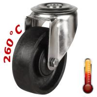 80mm High Temperature Resistant Wheel Bolt Hole Castors