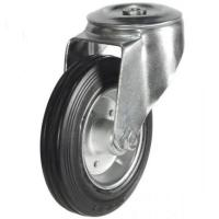M12 Bolt Hole castors 100mm wheel diameter upto 70kg capacity