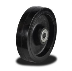200mm Rubber Tyre on Cast Iron Centre wheel with 600kg Capacity