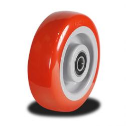 100mm Wheel with a Poly tyre on a Nylon Centre 280kg Capacity