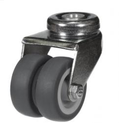 50mm Light Duty Twin Wheel Bolt Hole Castor