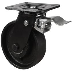 100mm Cast Iron Braked Castors
