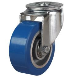 100mm Elastic Polyurethane On Aluminium Centre 80 Shore A Bolt Hole Castors