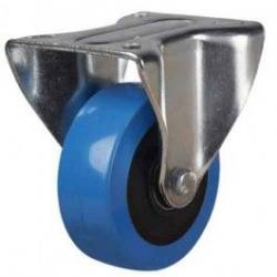100mm Elastic Polyurethane On Nylon Centre Fixed Castors