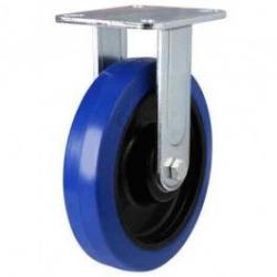 100mm Elastic Rubber Non-Marking Fixed Castors