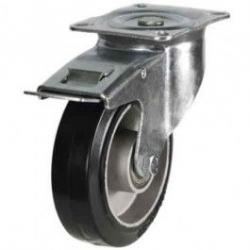 100mm medium duty castor Elastic Rubber On Aluminium wheel