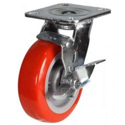 100mm Heavy Duty Poly Nylon Braked Castor - 320kg capacity