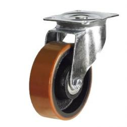100mm Heavy Duty Polyurethane on Cast Iron Swivel Castor