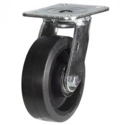100mm Heavy Duty Rubber on Cast Iron Swivel castors - 220kg capacity