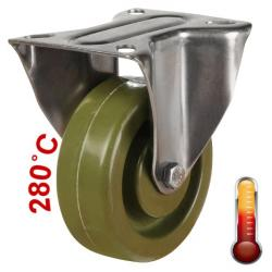 100mm Medium Duty High Temperature Resistant Fixed Castors