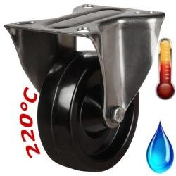 100mm Medium Duty High Temperature Resistant Stainless Steel Fixed Castors