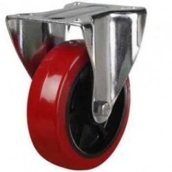 100mm Polyurethane On Nylon Centre Fixed Castors