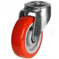 100mm Polyurethane On Nylon Centre Bolt Hole Castors