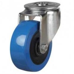 100mm Polyurethane On Nylon Bolt Hole Castors
