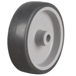 100mm Rubber Tyre On Plastic Centre Castors Wheel