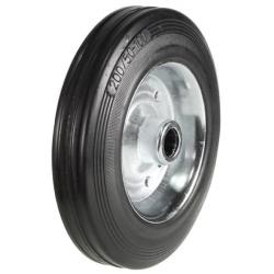 100mm / 80kg Rubber Wheel on Steel Disk Centre