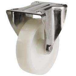 125mm Medium Duty Fixed Castor Nylon Wheel, Large Plate