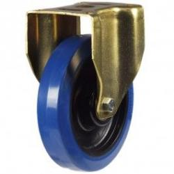 125mm Elastic Non-Marking Rubber On Nylon Centre Fixed Castors
